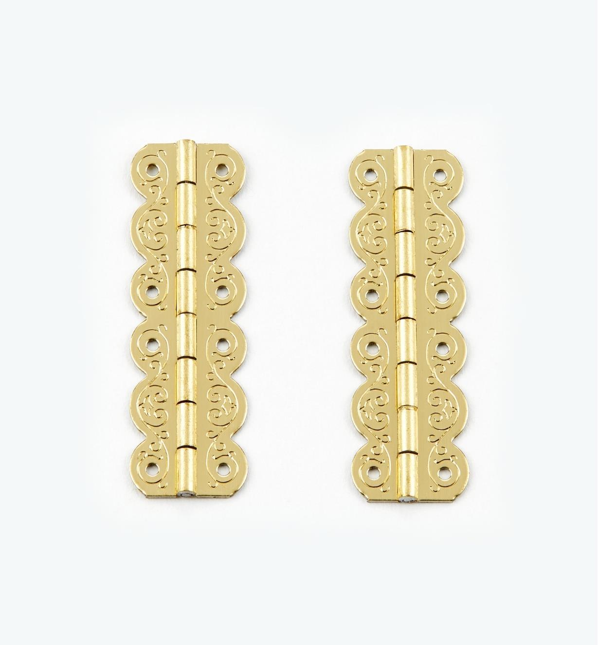 00D3502 - 40mm x 13mm FiligreeHinges, pr.