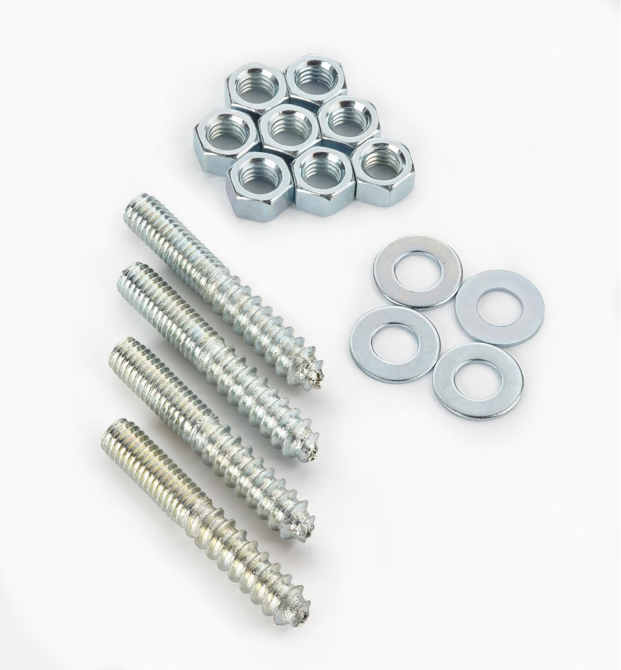 00H3306 - Hanger Bolts & Nuts, pkg. of 4