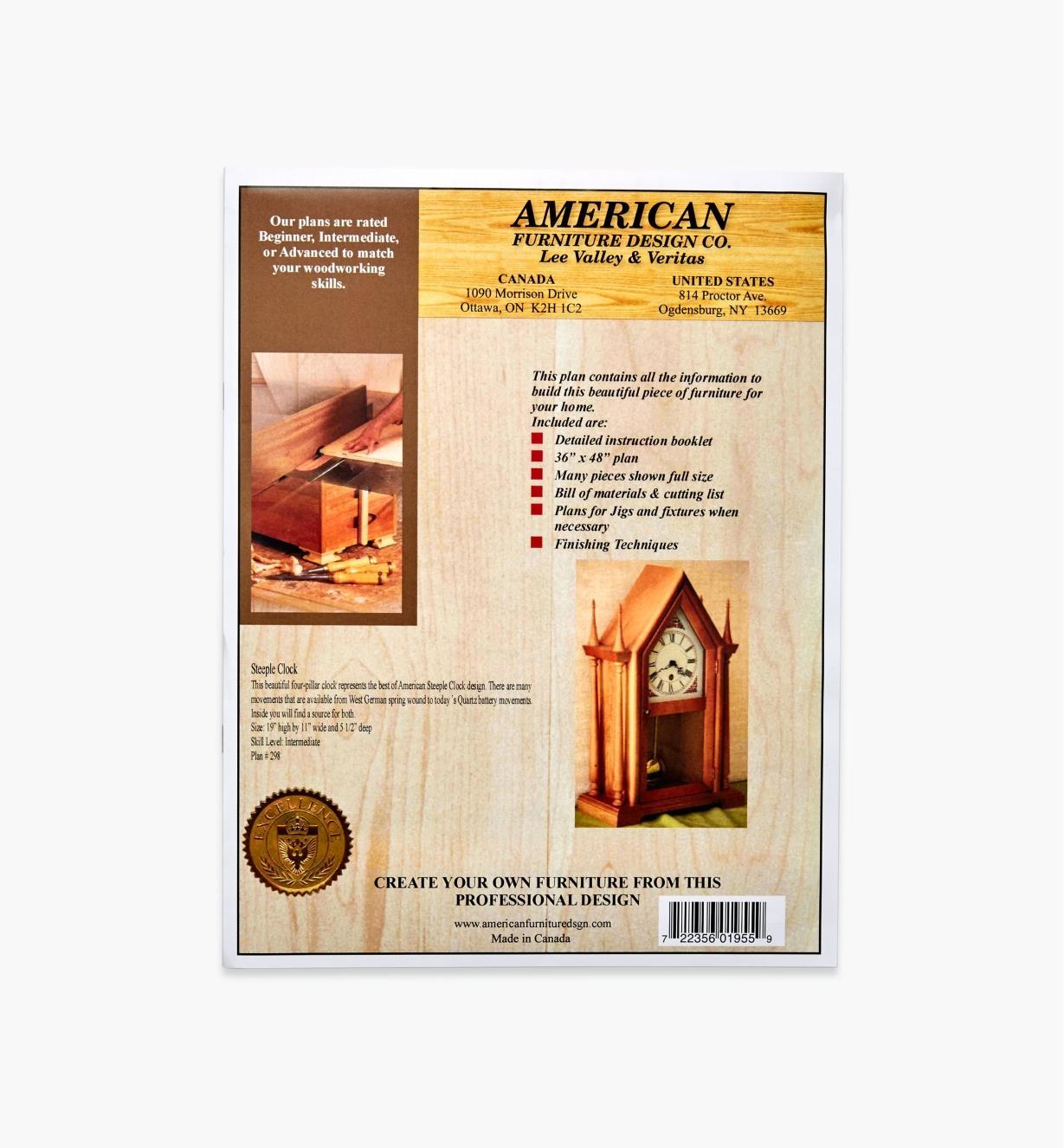 01L5101 - Heritage Time Steeple Clock Plan