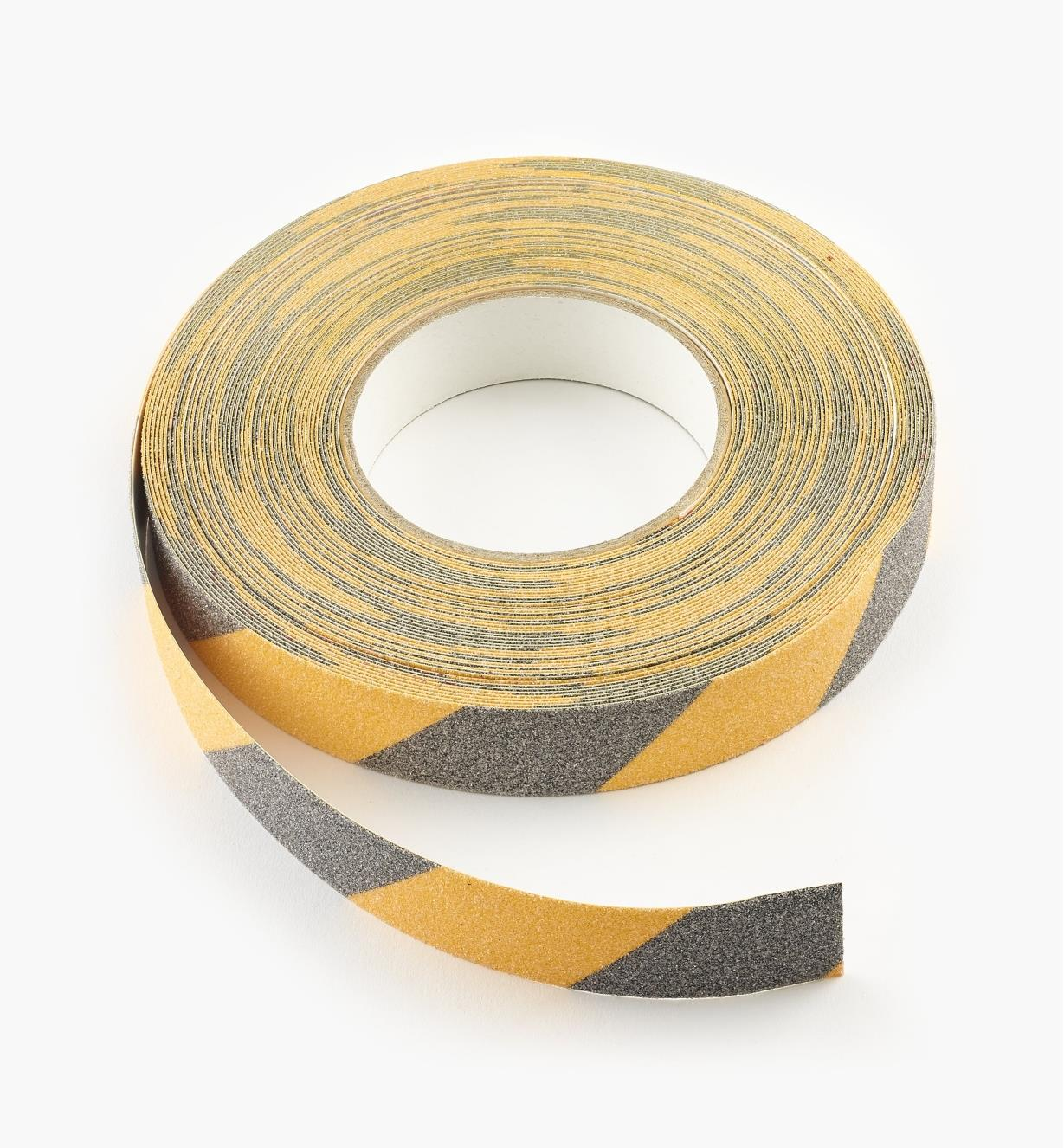 "25K0121 - 1"" Black and Yellow Tape, 20 yd."