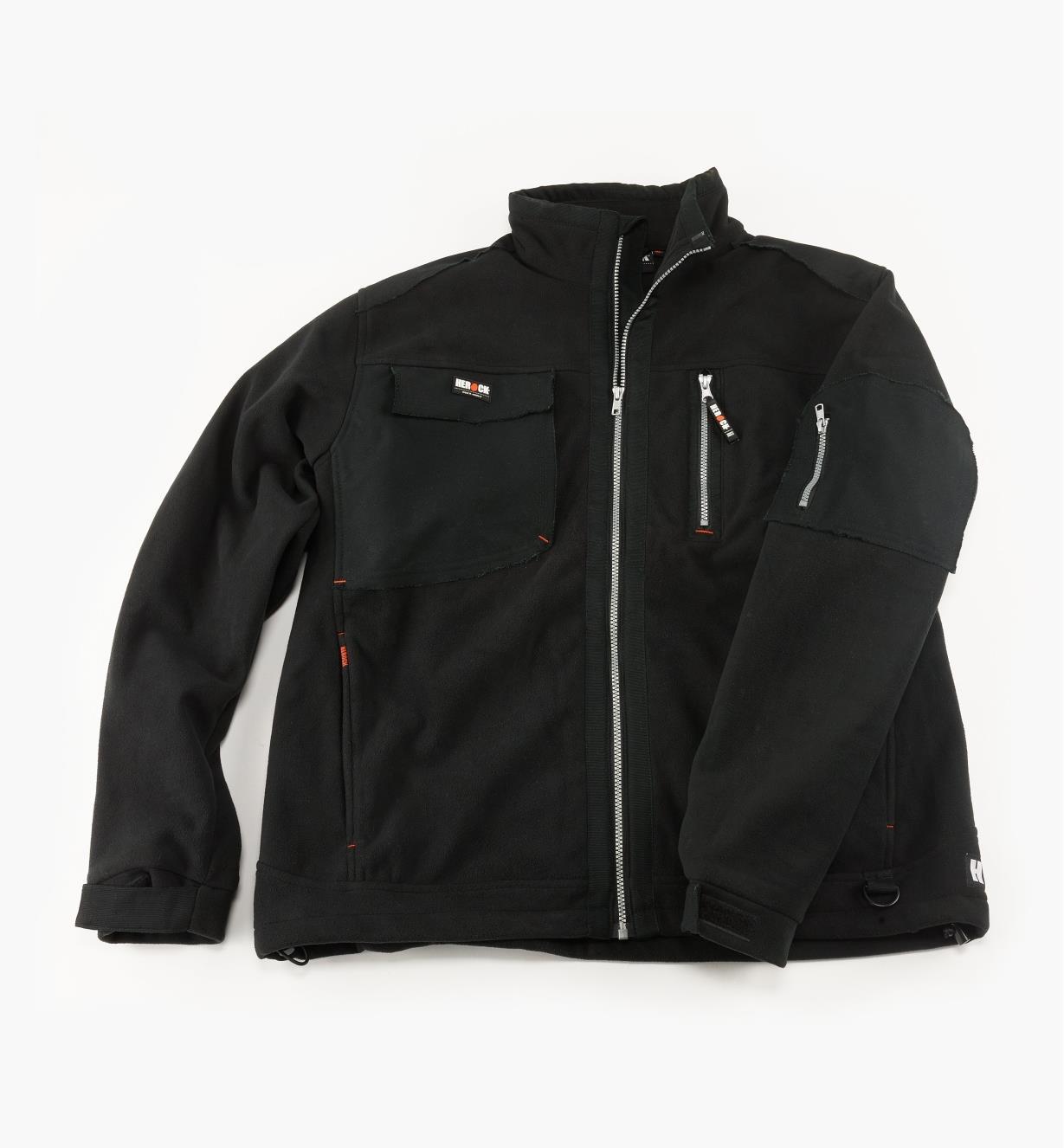 Herock Water-Resistant/Breathable Fleece Jacket, Black