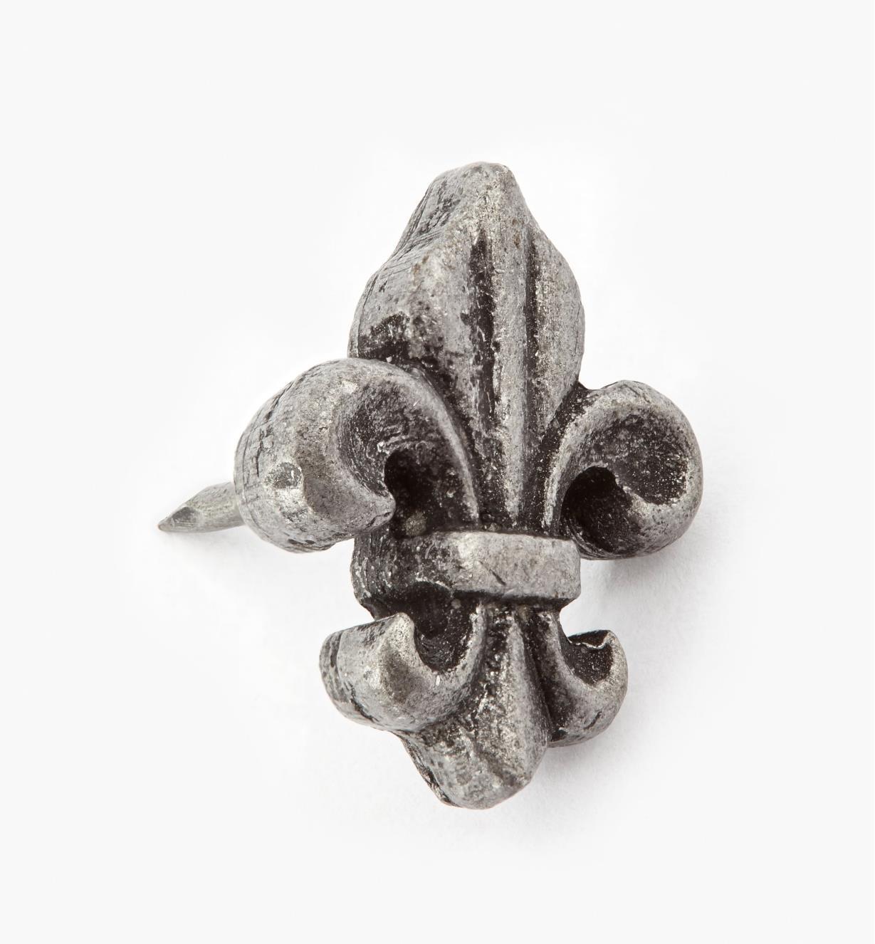 """00T0945 - Fleur-de-Lis Clavos, 3/4"""" x 1/2"""", Antique Pewter, ea."""
