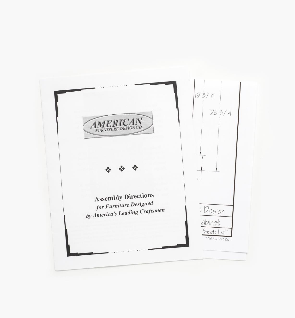 01L5110 - Hoosier Kitchen Cabinet Plan