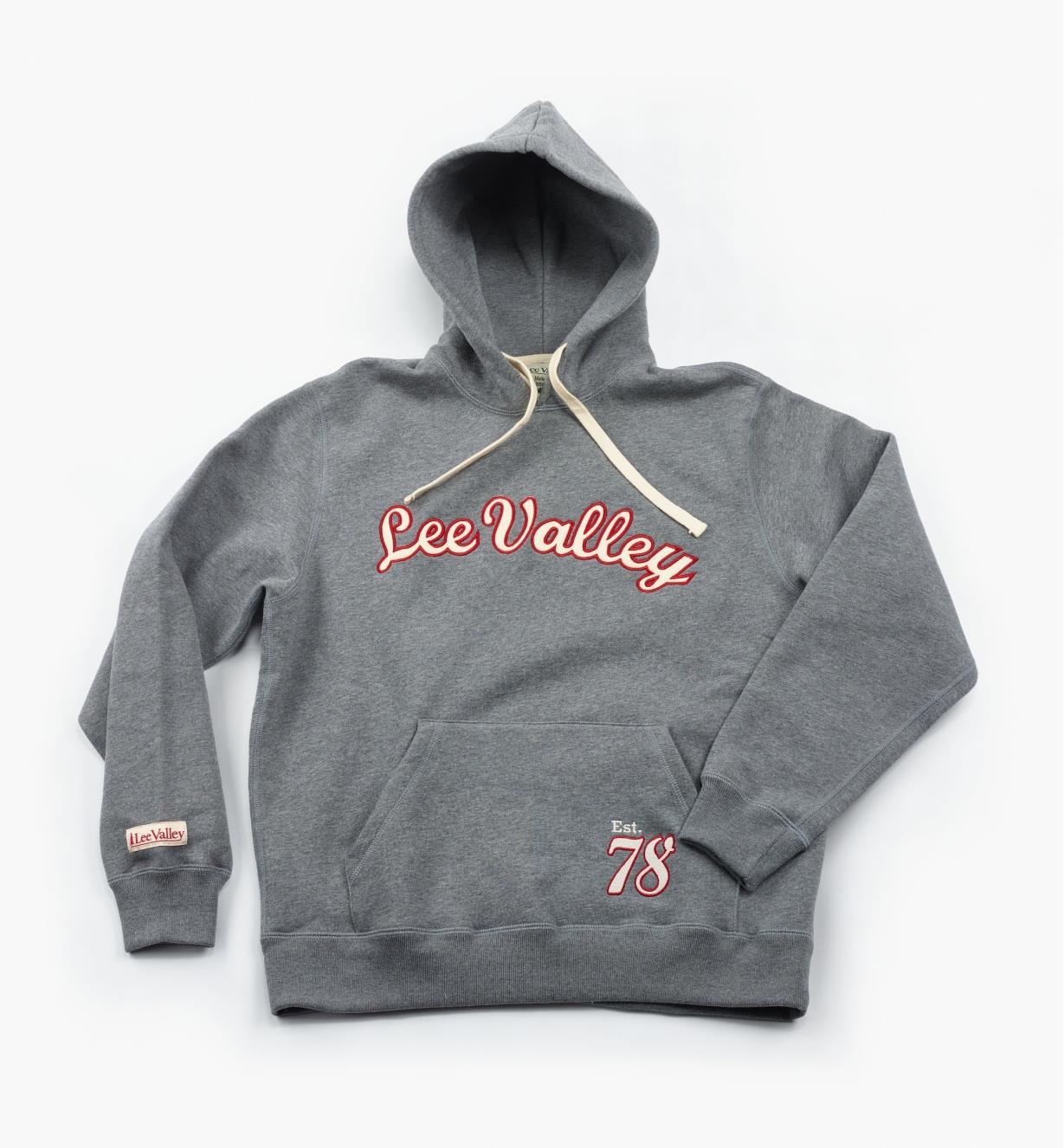"67K6753 - Large (44""-46"") Gray Lee Valley Pullover Hooded Sweatshirt"
