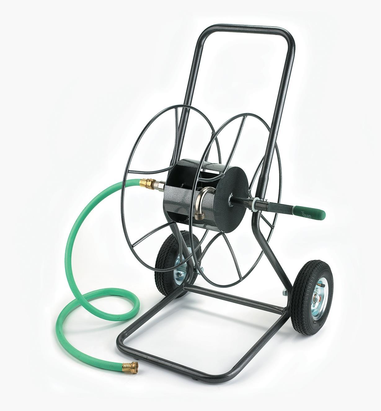 XB131 - Dévidoir de boyau d'arrosage sur roues