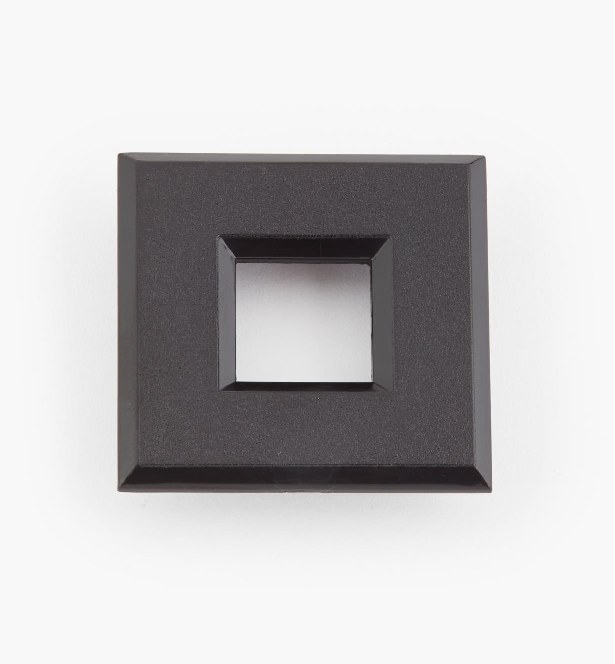 "00U4366 - 1 9/16"" Black Square Polycarbonate Trim Ring"