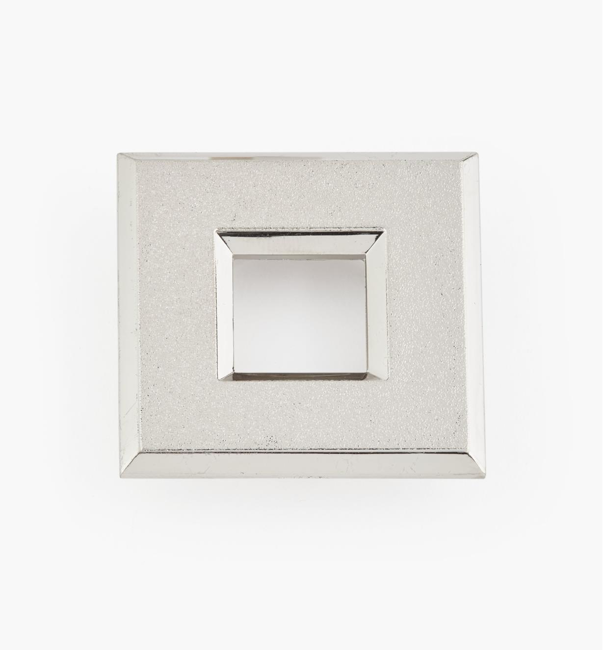 "00U4367 - 1 9/16"" Silver Square Polycarbonate Trim Ring"