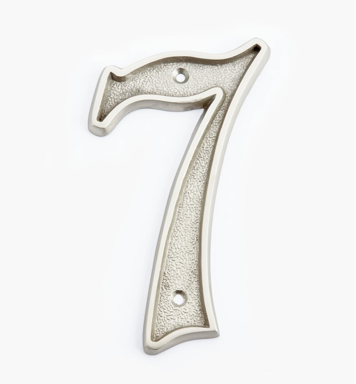 "00W0527 - 5"" Italic Satin Nickel Number - 7"