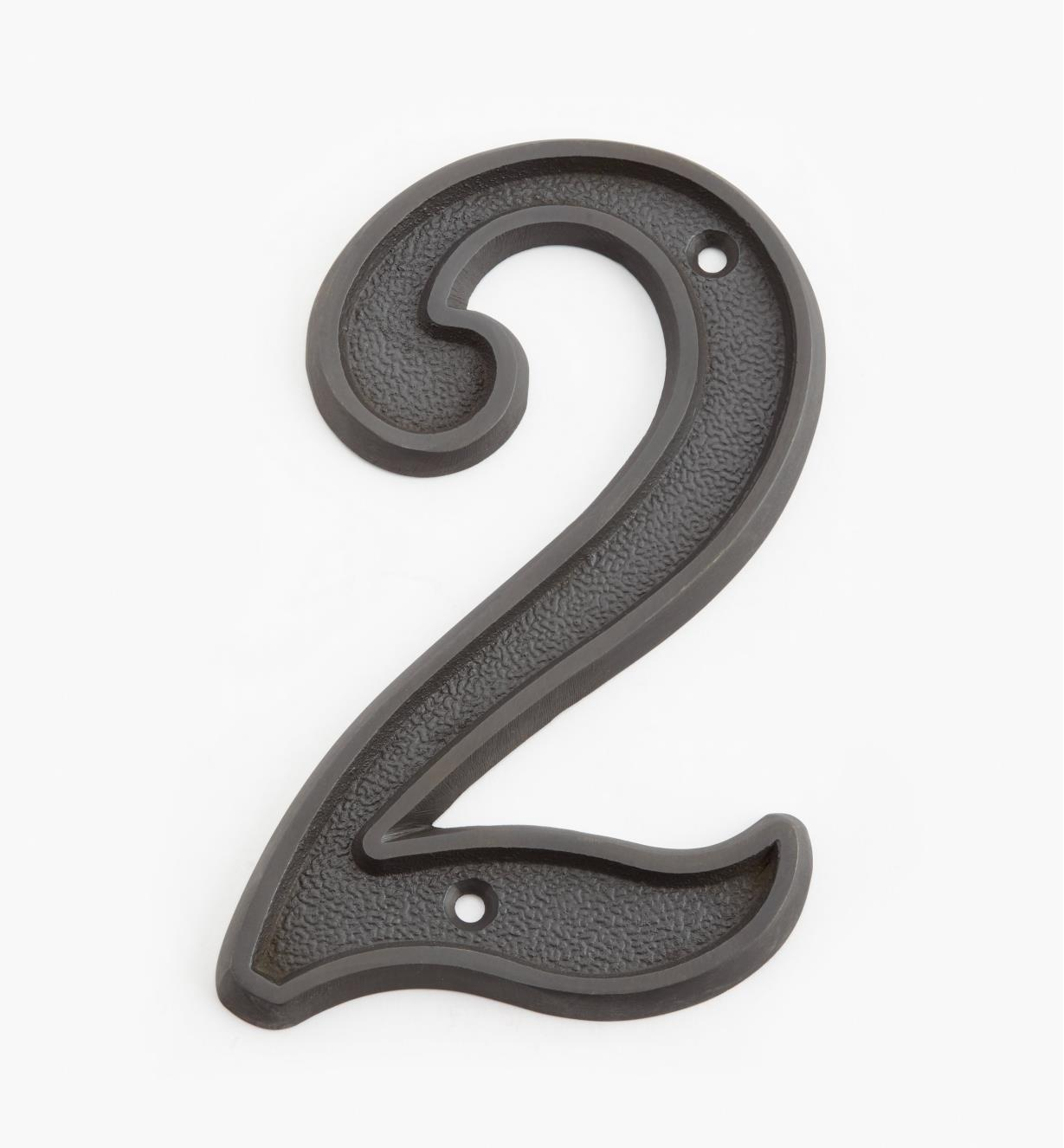 "00W0532 - 5"" Italic Oil-Rubbed Bronze Number -2"