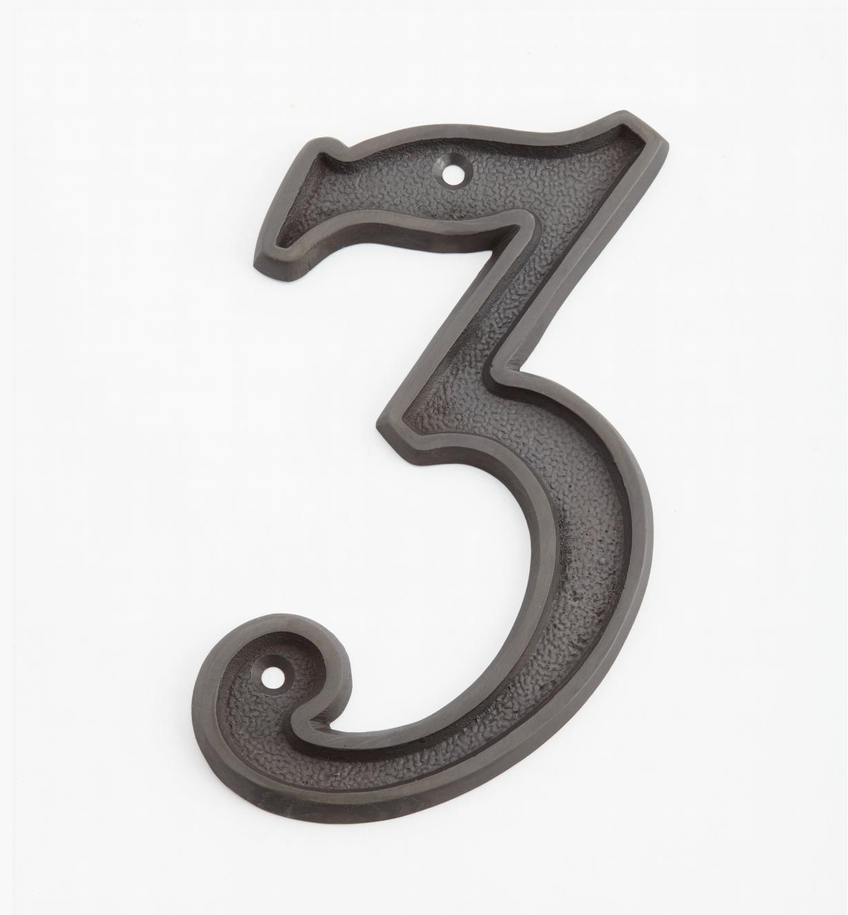 "00W0533 - 5"" Italic Oil-Rubbed Bronze Number -3"