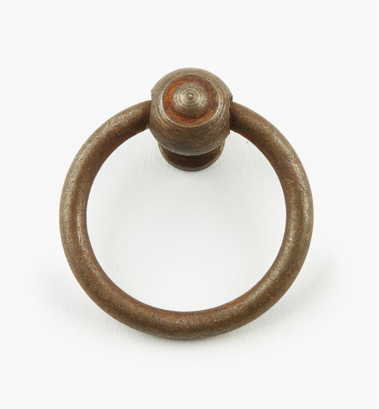 01A6011 - Poignée à anneau en fer, 40 mm