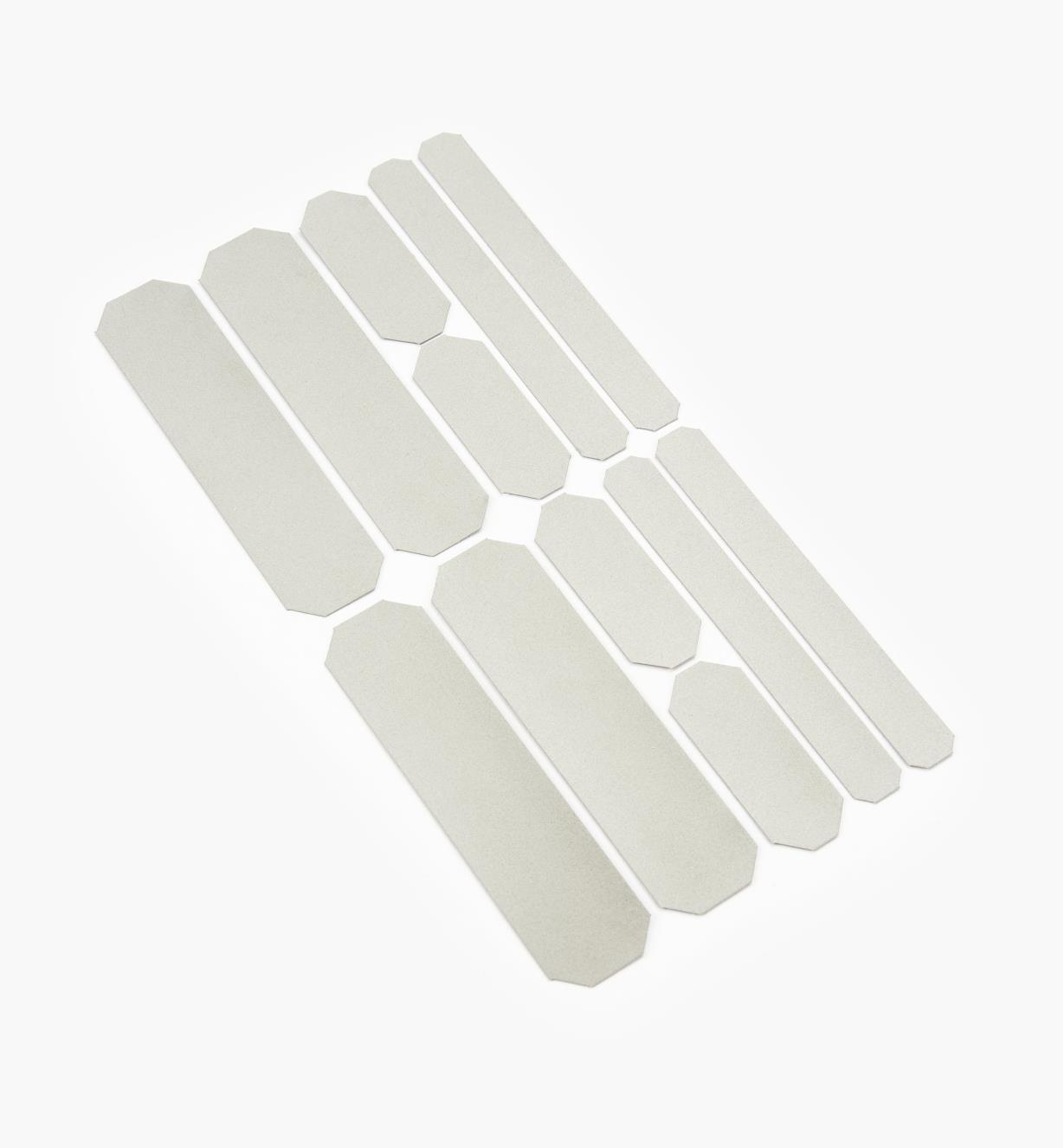 68K1002 - Iron-On Reflective Strips, pkg. of 12