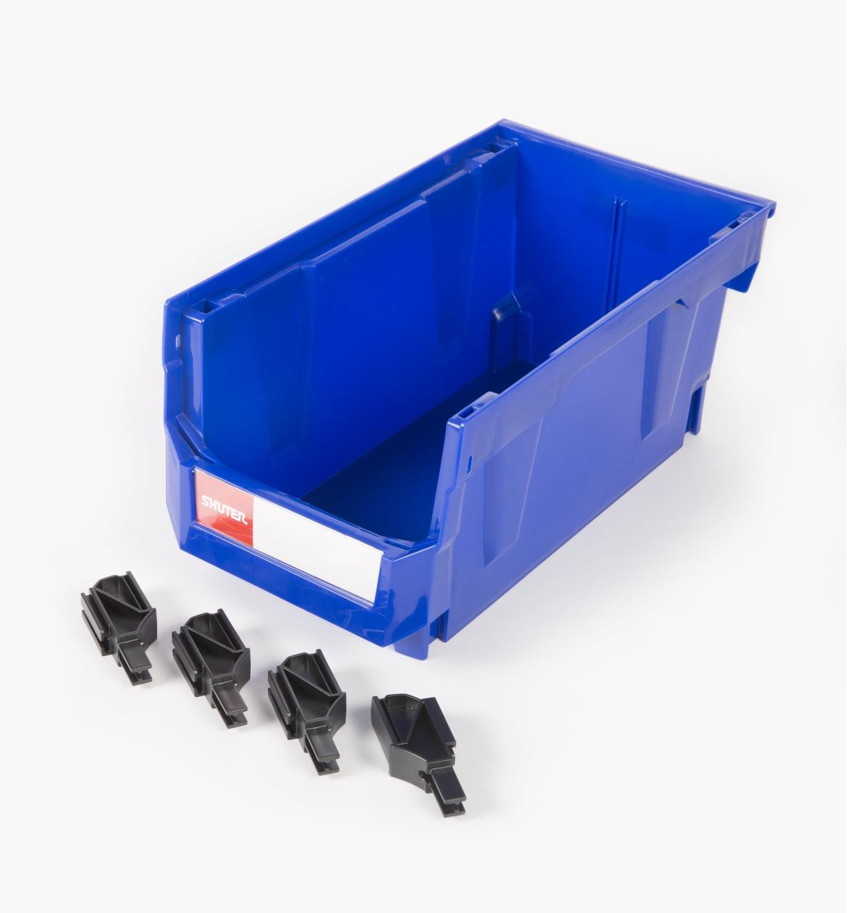 68K4265 - 175mm x 170mm x 342mm Stackable Storage Bin