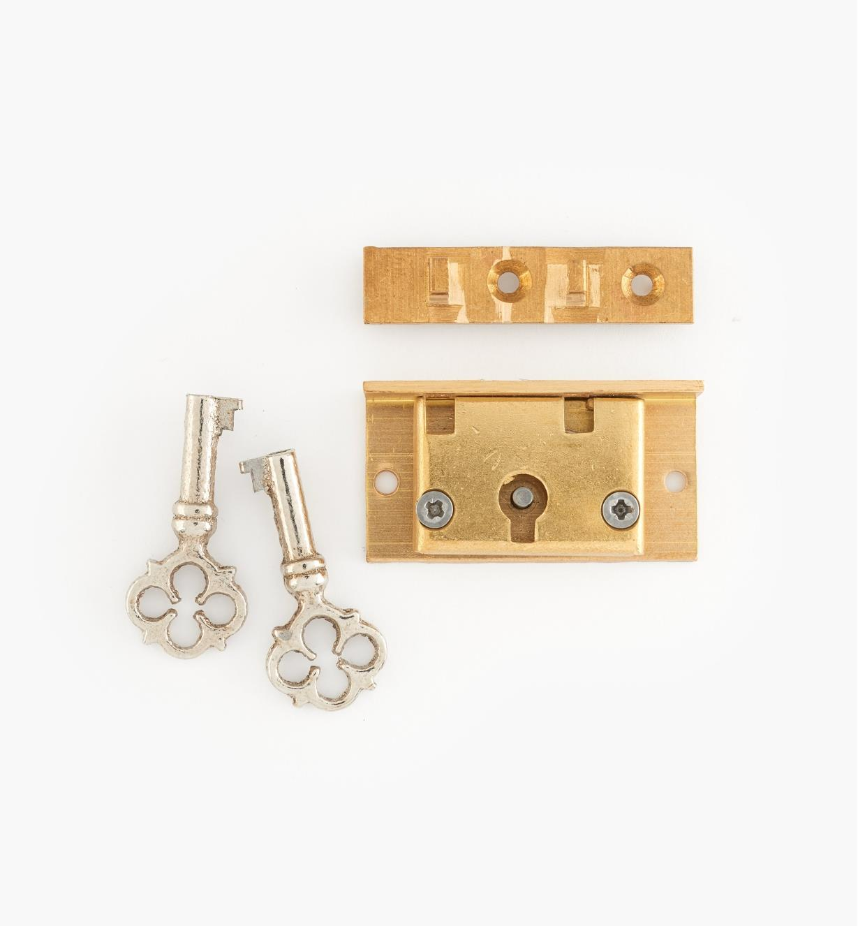 "00R0401 - 1 1/2"" Jewellery-Box Lock"