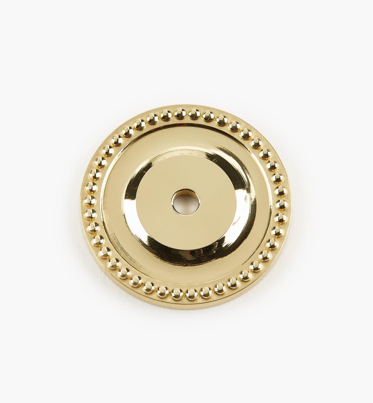 00W2070 - Platine ronde perlée pour bouton, 41mm