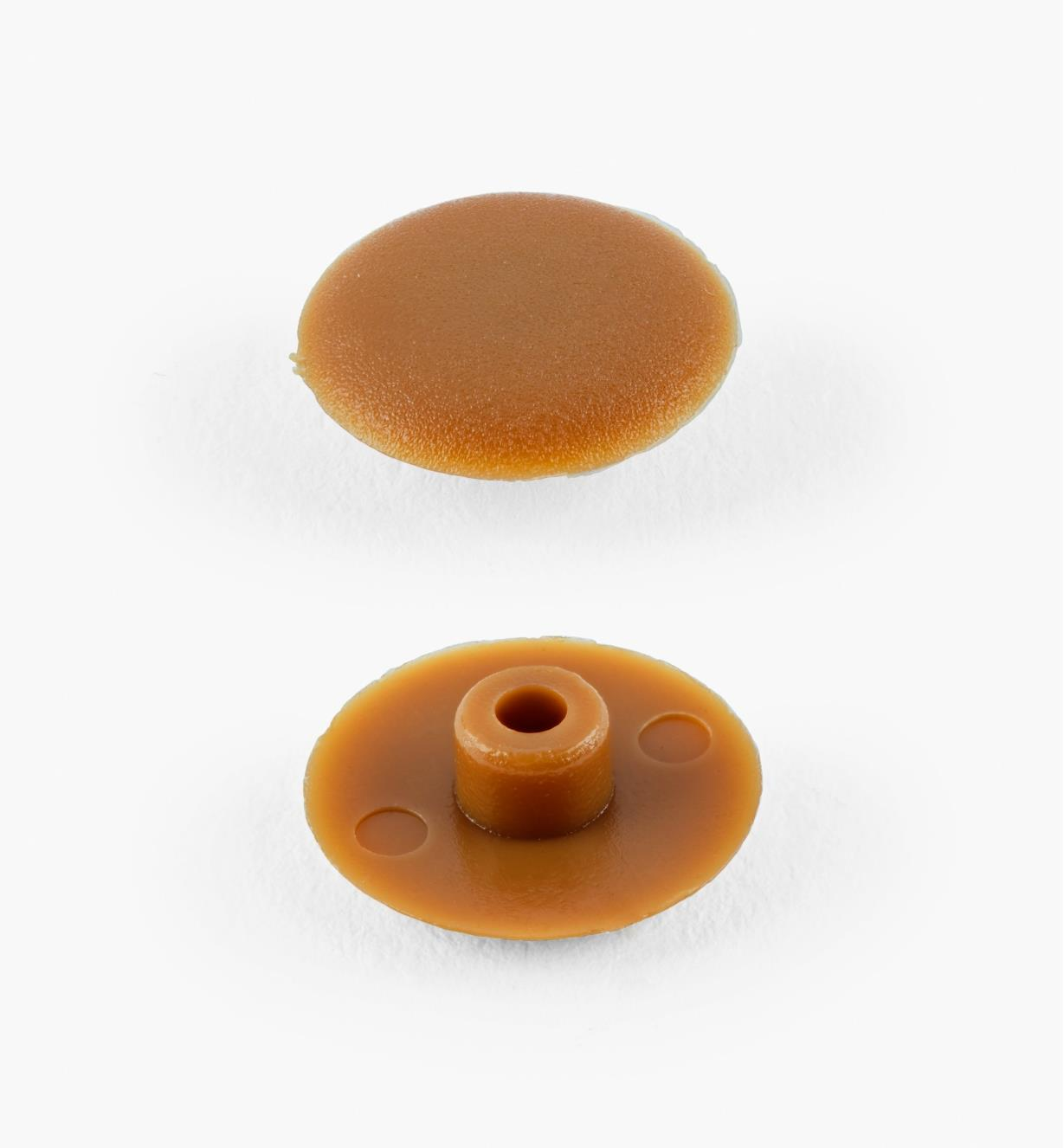 00W6507 - Brown Plastic Caps, pkg. of 100