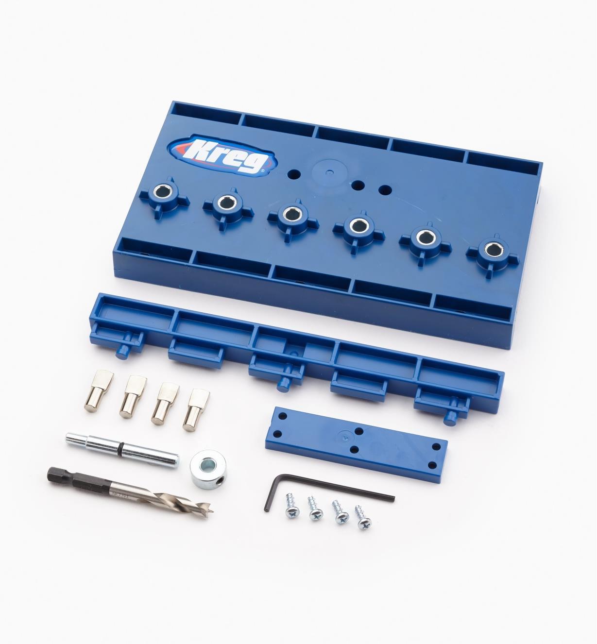 "25K6074 - 1/4"" Kreg Shelf Pin Jig Kit"
