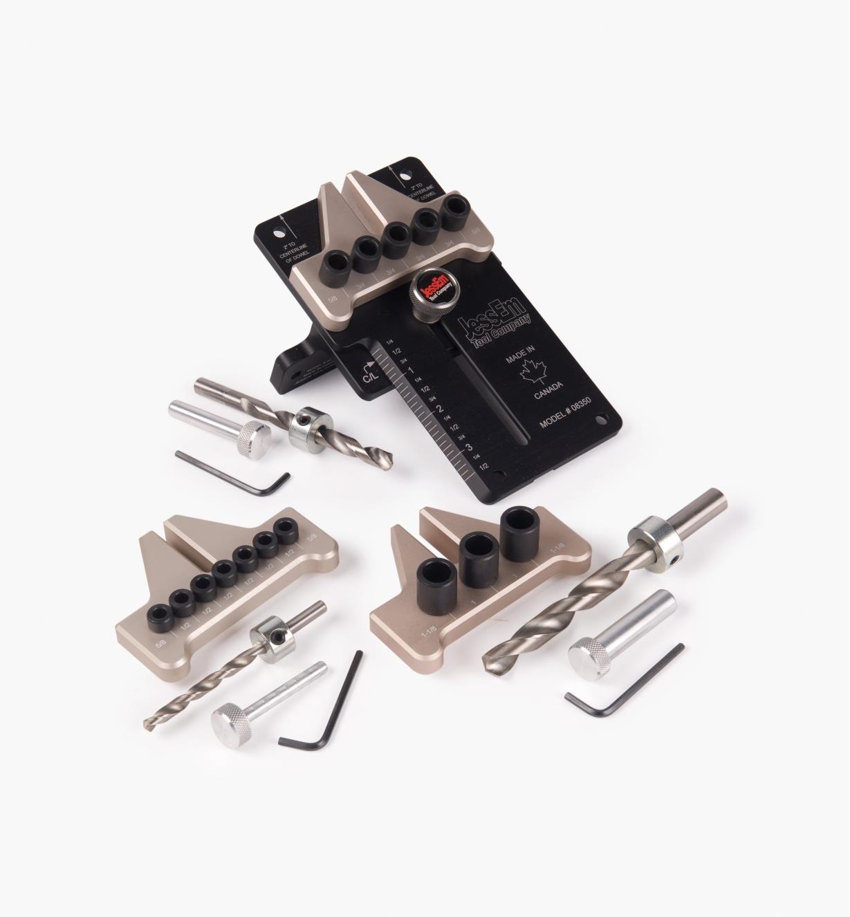 86N4286 - Ensemble complet JessEm  (gabarit à goujonner et tous les accessoires)