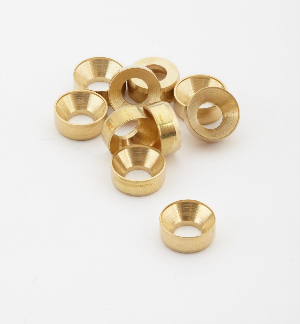 01K7001 - #6 Brass Washers, pkg. of 10