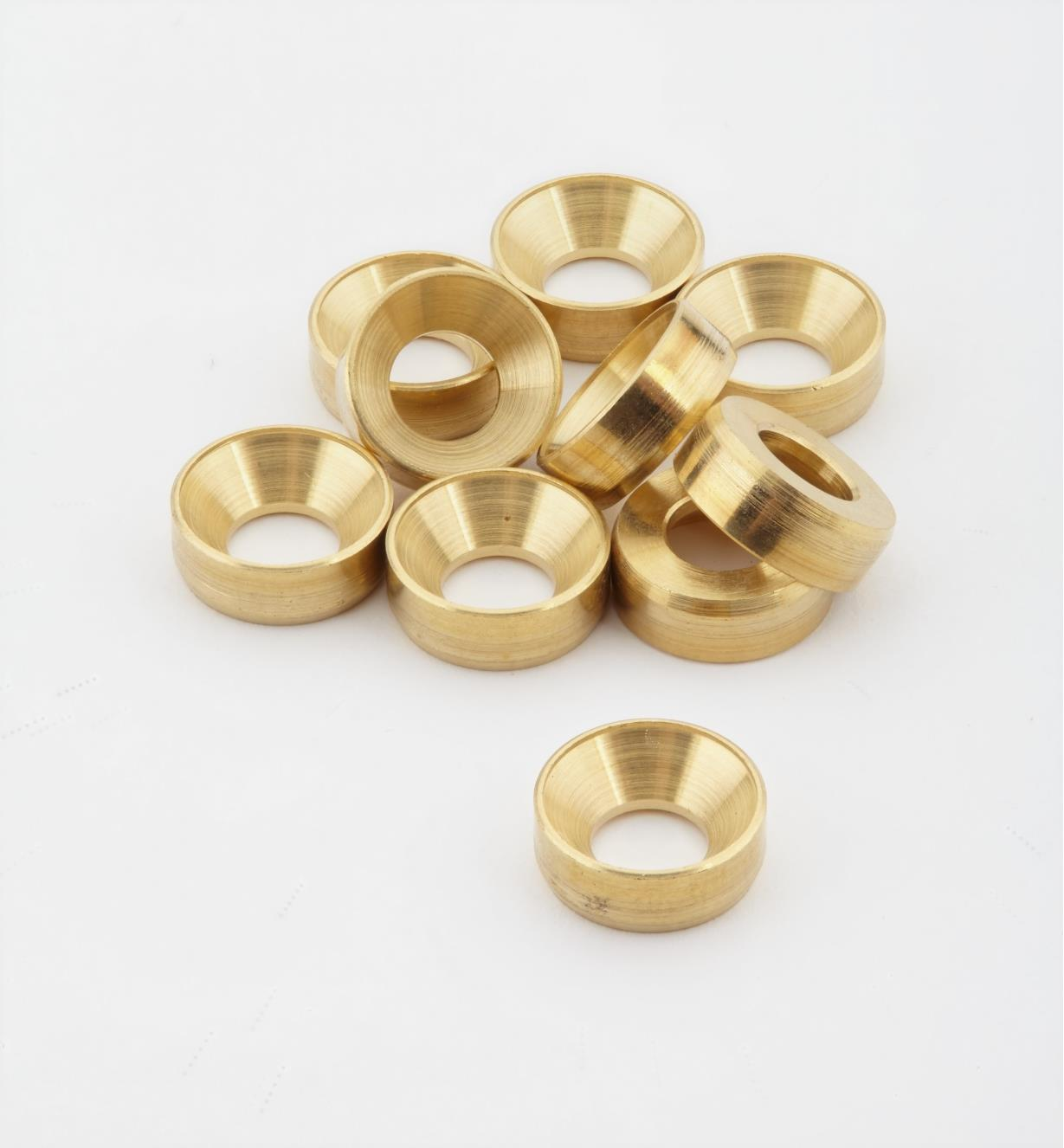 01K7003 - #10 Brass Washers, pkg. of 10