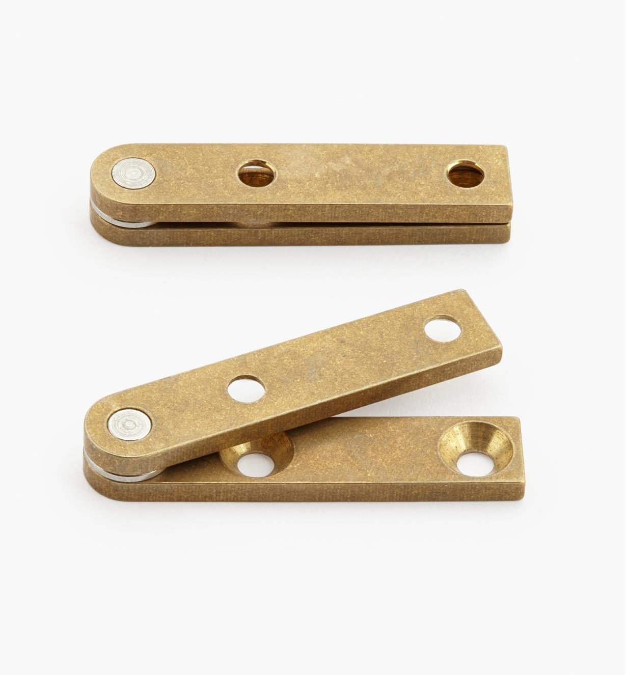 "05H0105 - 5/16"" x 1 1/2"" x 3/32"", Brass Straight Knife Hinges, pair"