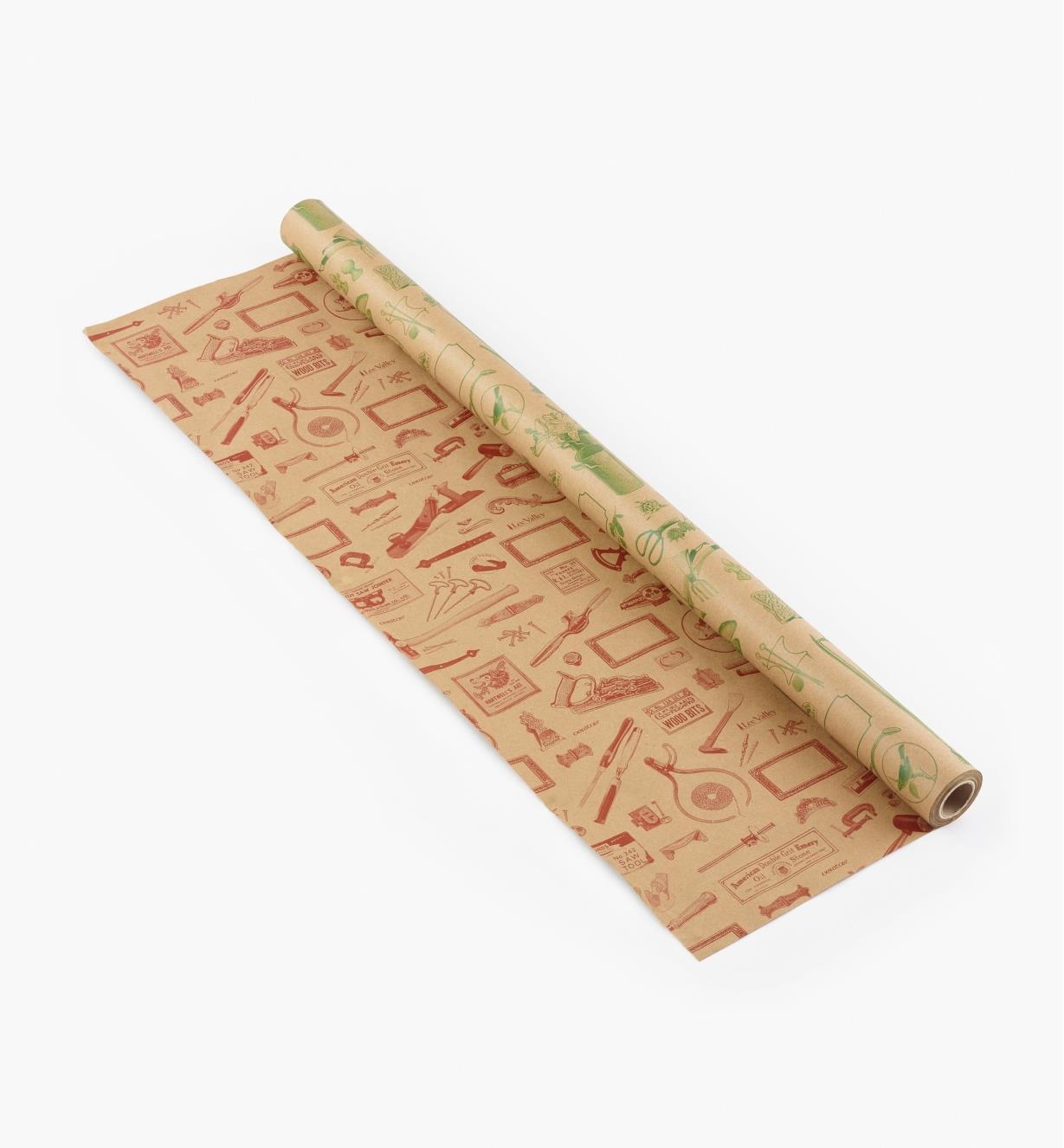50K1425 - Papier d'emballage Lee Valley, rouleau de 25 pi x 29 1/2 po