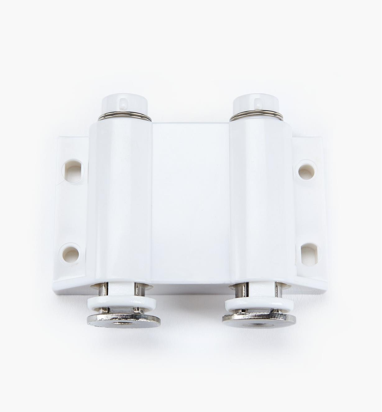 00W0201 - White Double Magnetic Latch, ea.