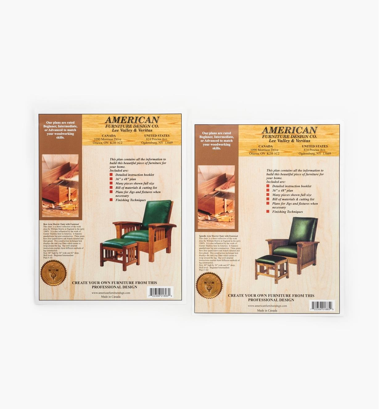 01L5074 - Morris Chair & Footstool Plans Combo