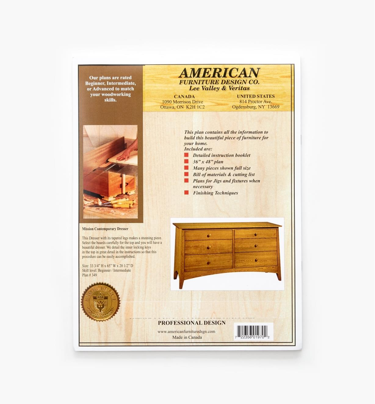 Mission Contemporary Dresser Plan Lee Valley Tools