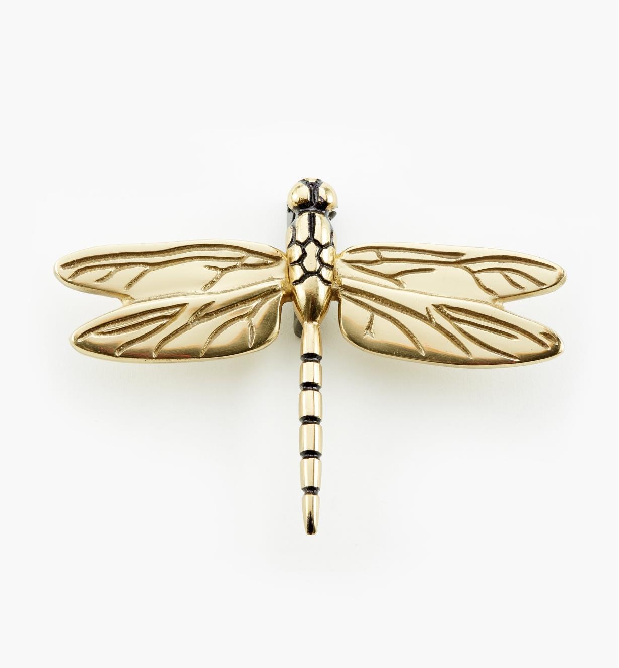 00W0812 - Polished Brass Dragonfly Door Knocker