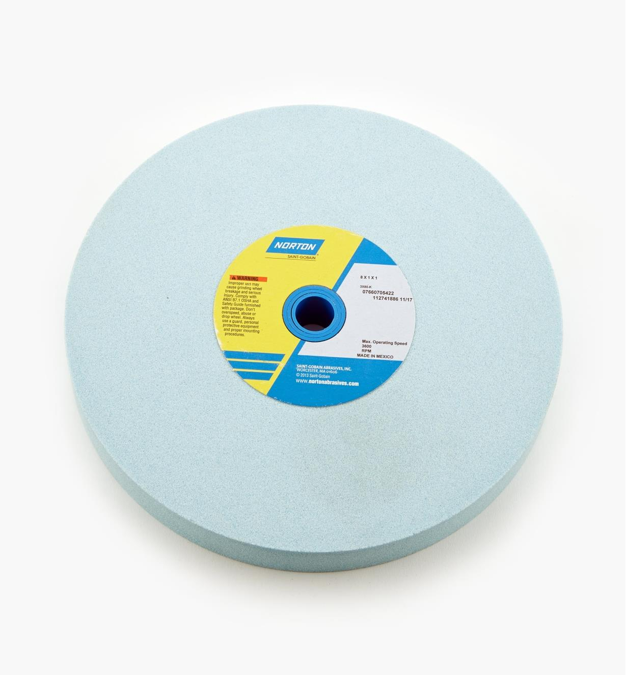 "08M2303 - Norton 3X Grinding Wheel, 80x, 8"" x 1"""