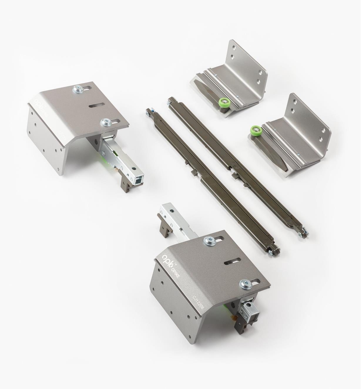 00B1135 - Overlay Bypass Sliding Door Hardware, Outer Door Hardware