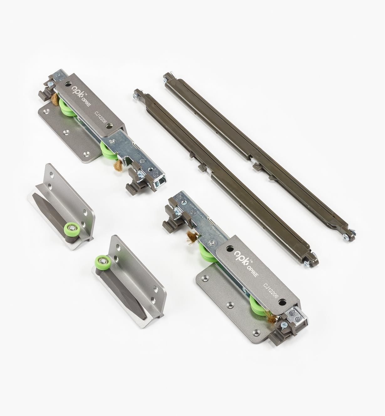 00B1136 - Overlay Bypass Sliding Door Hardware, Inner Door Hardware