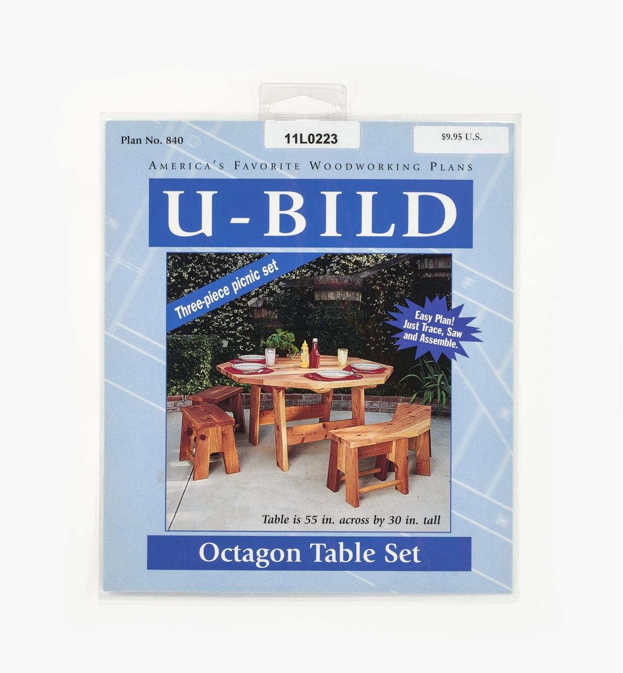 11L0223 - Octagon Table Set Plan