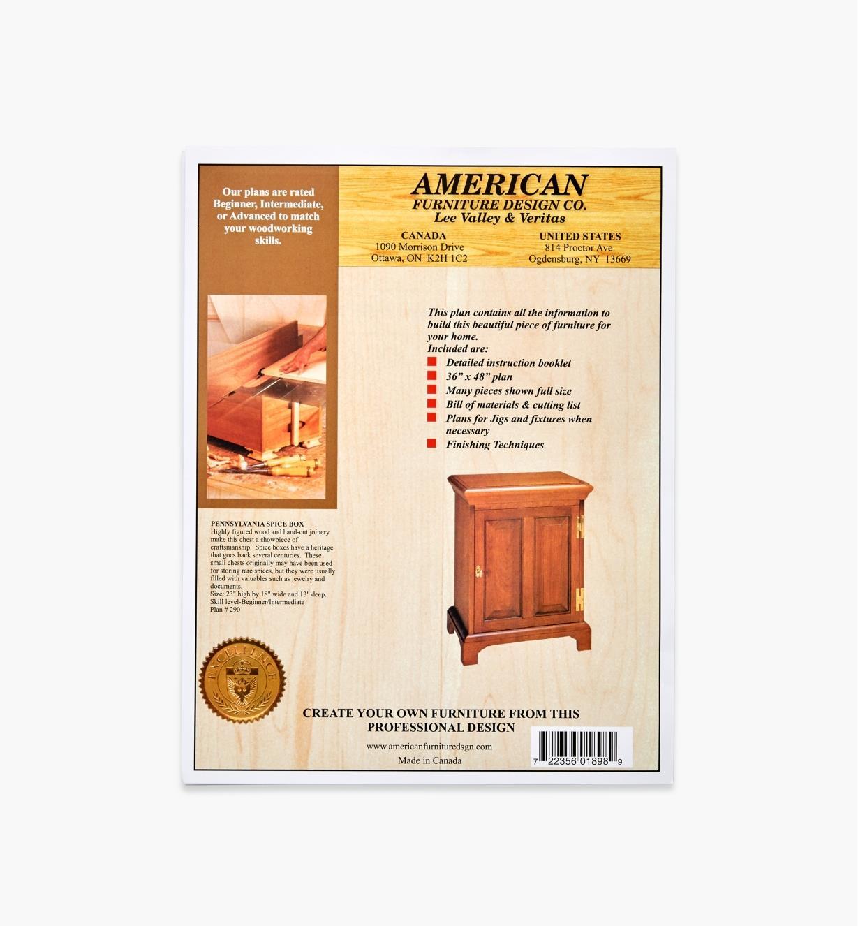 Pennsylvania Spice Box Plans