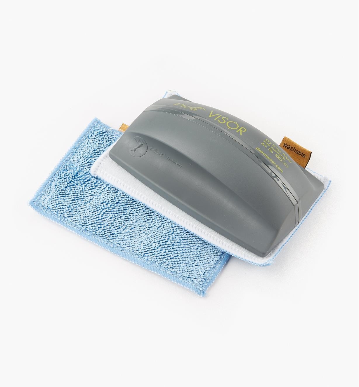 25K0483 - Bloc à effacer pour marqueurs effaçables à sec Pica-Visor avec 2 tampons