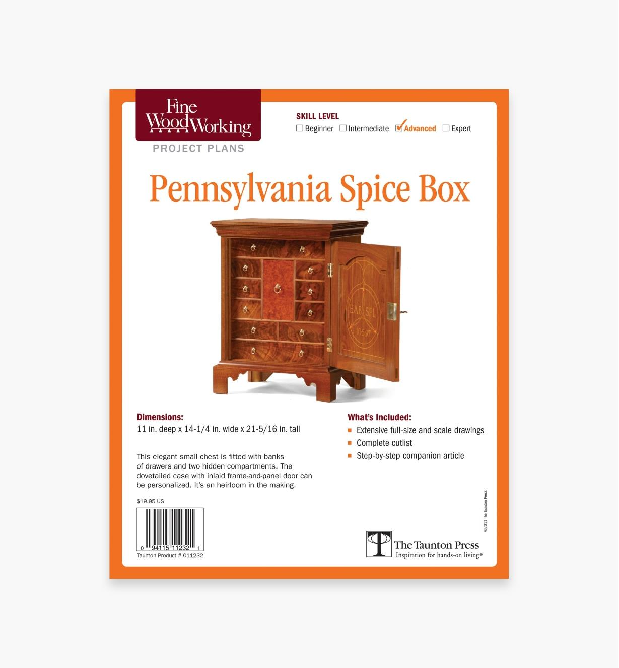 73L2502 - Pennsylvania Spice Box Plan