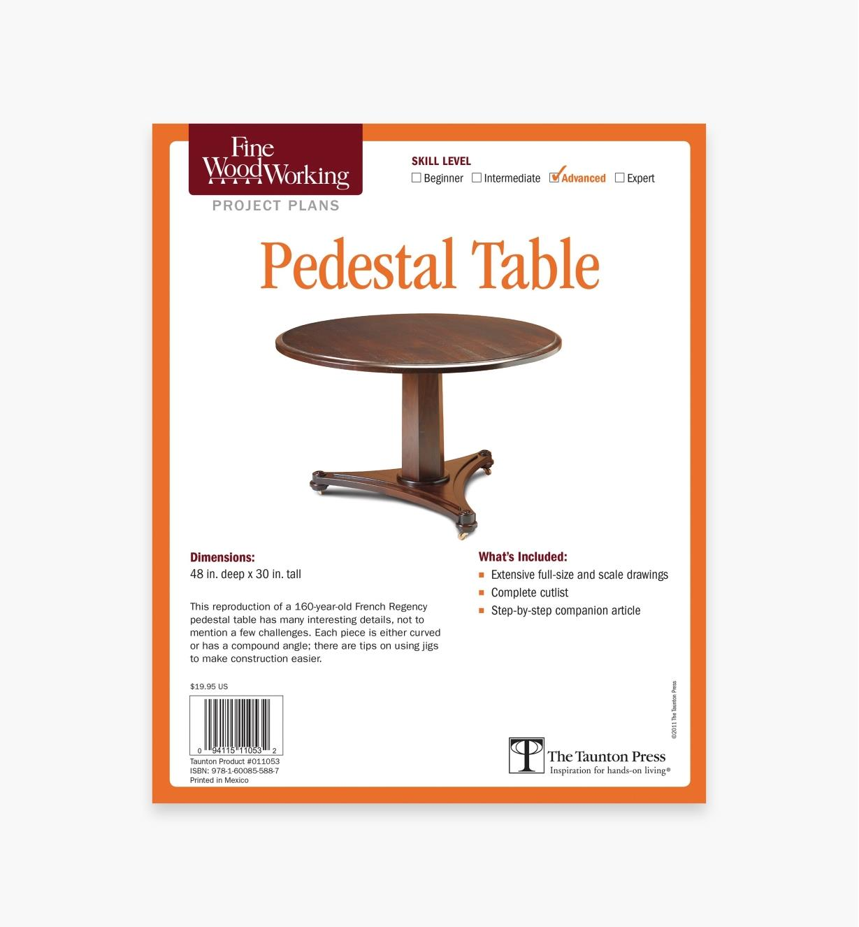 73L2544 - Pedestal Table Plan