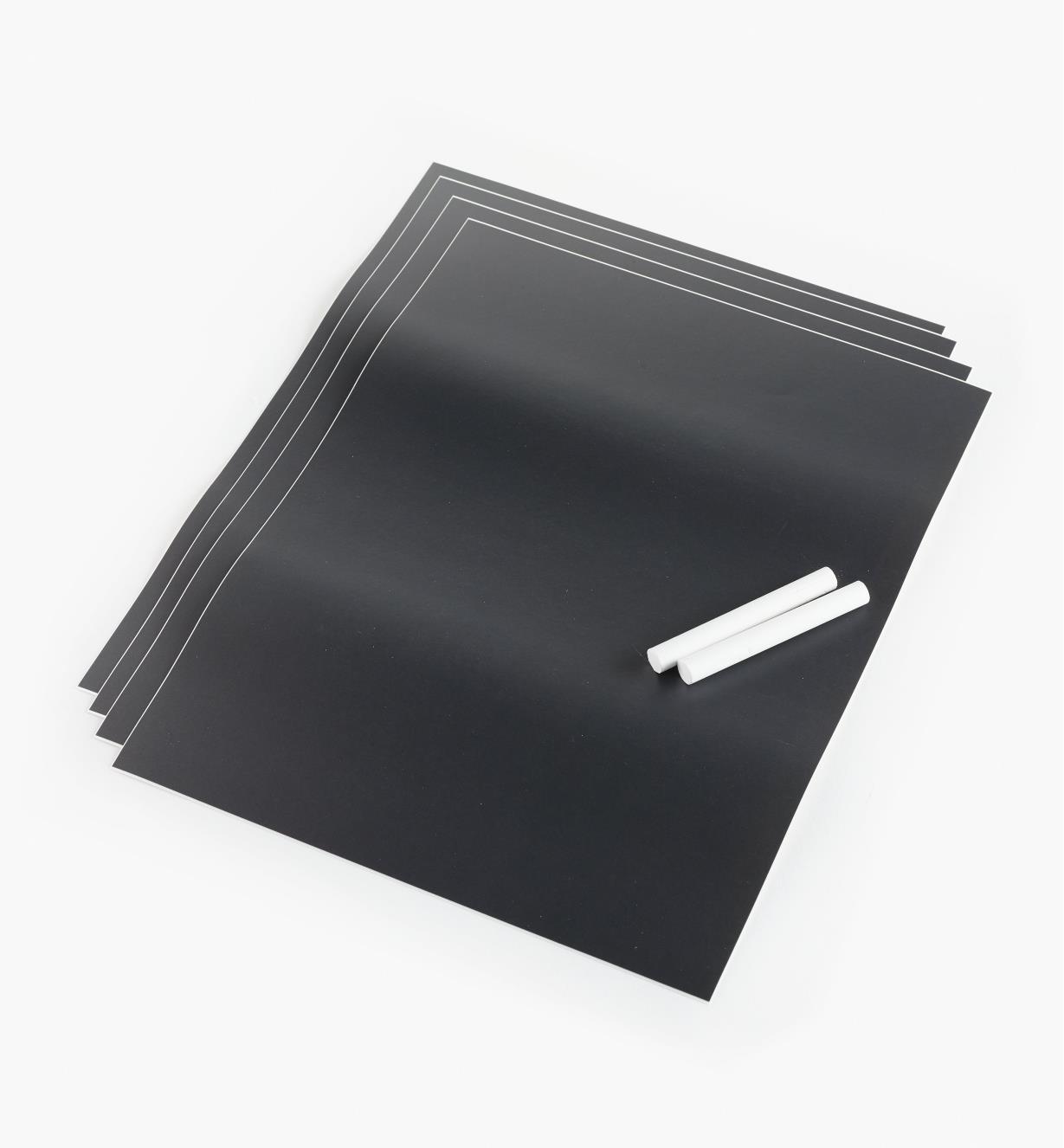 88K9620 - Tableaux autocollants pour craies, 9po x 12po, lelotde4