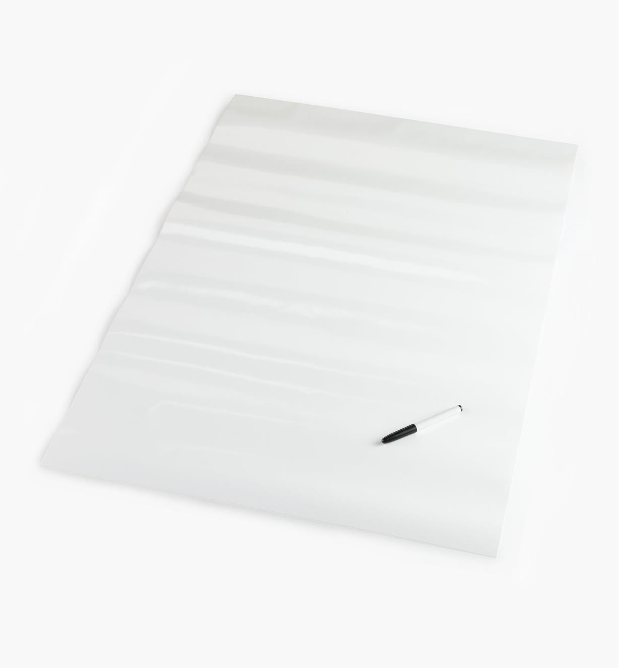 "88K9623 - 25"" x 38"" Peel-and-Stick Dry-Erase Sheet, each"