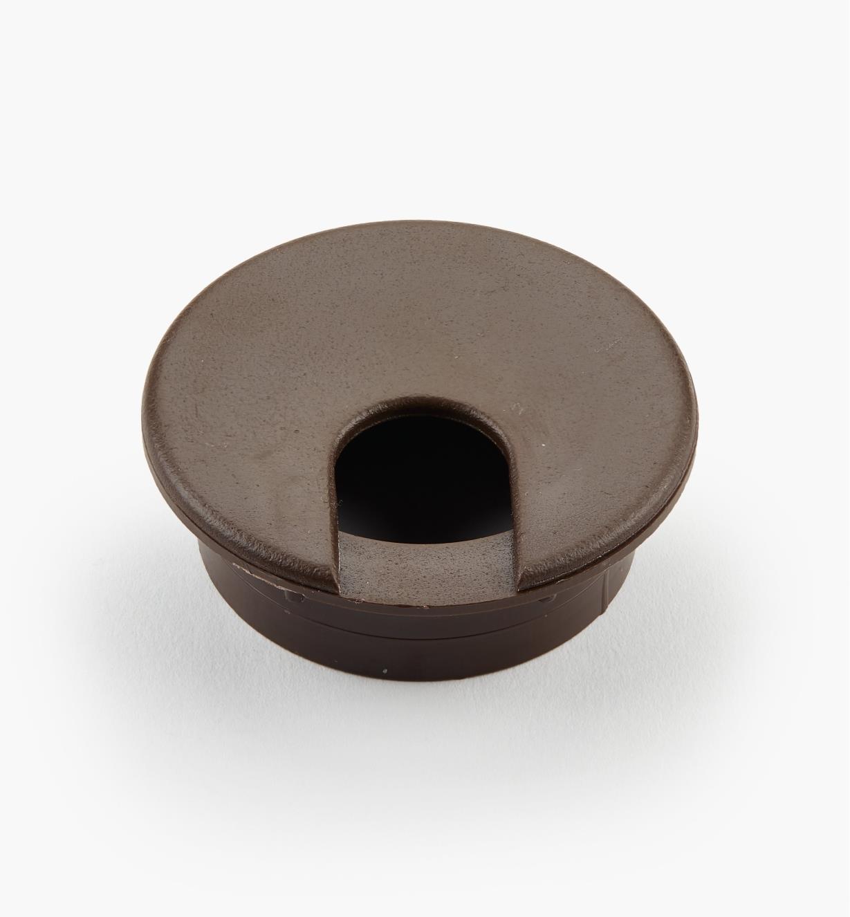 00U0842 - Passe-câble en plastique brun de 2po