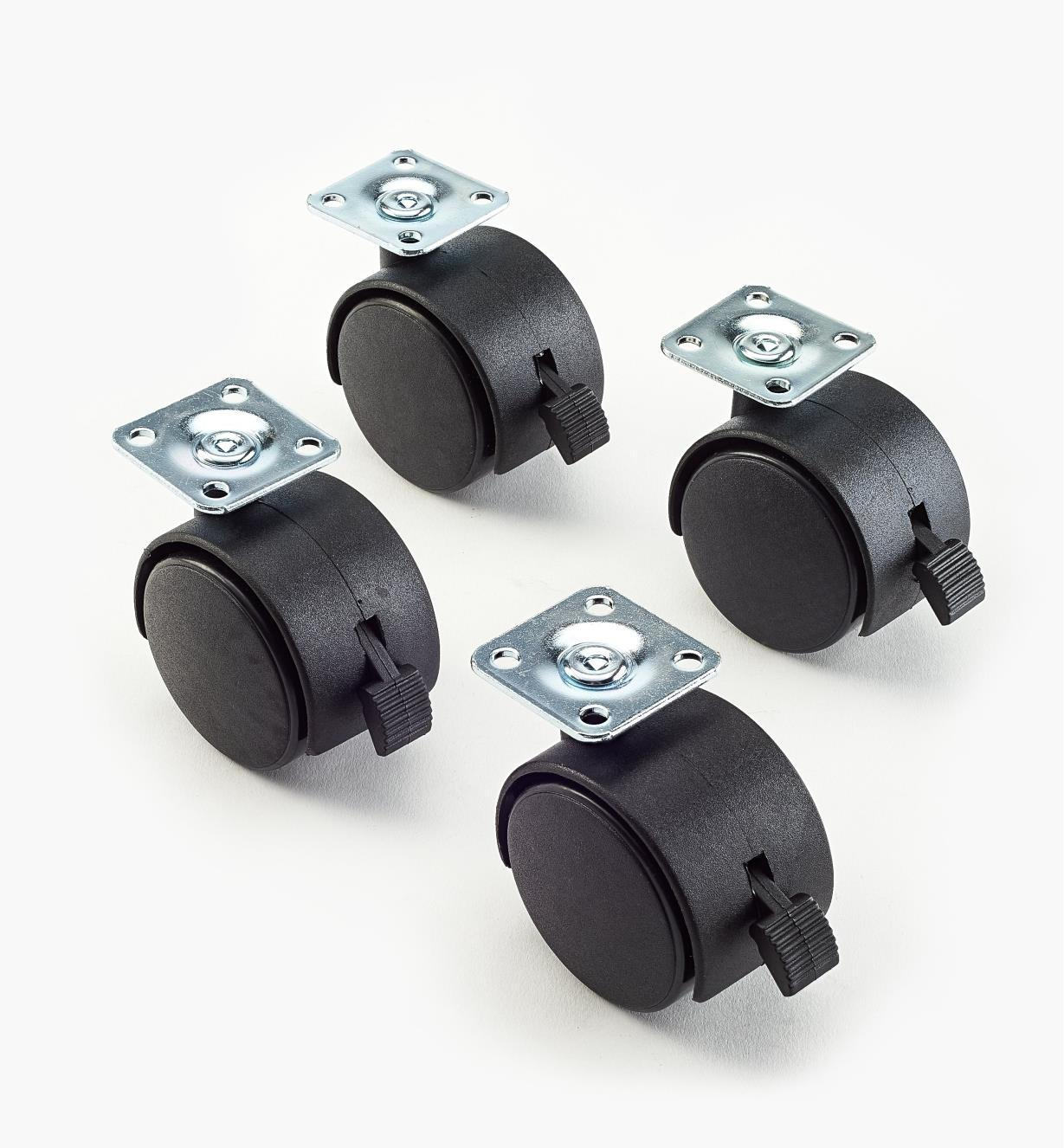 "00W0903 - 2"" dia. Locking Plate Casters, pkg. of 4"