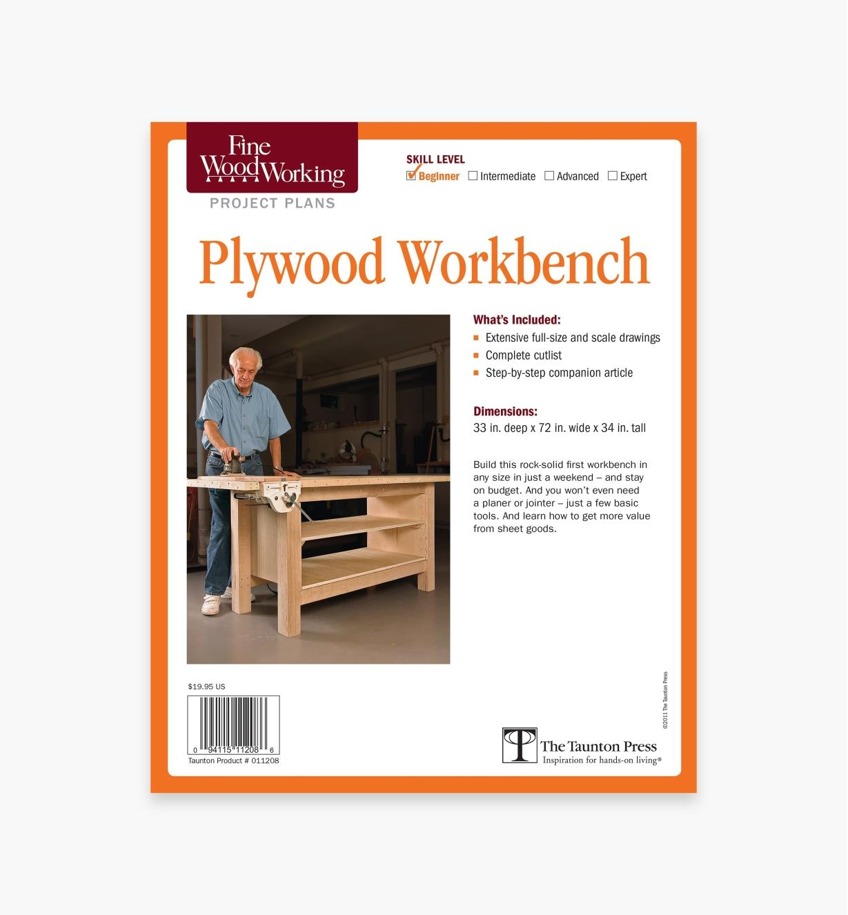 73L2511 - Plywood Workbench Plan