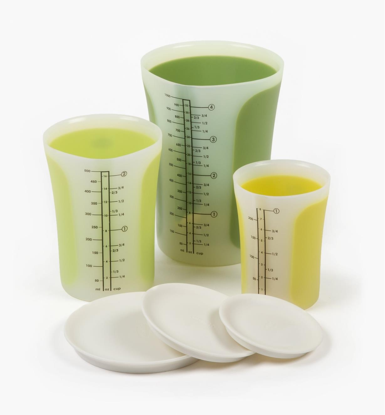 EV158 - Pinch & Pour Measuring Beakers, set of 3
