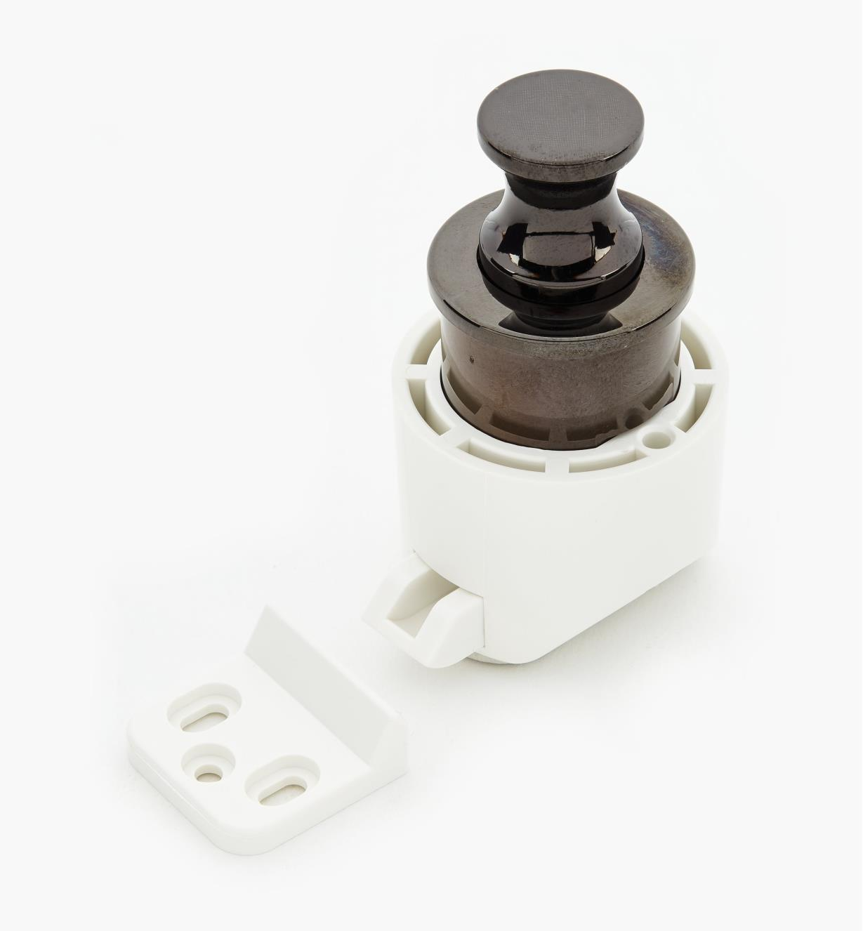 00S3113 - Black Nickel Knob/White Latch