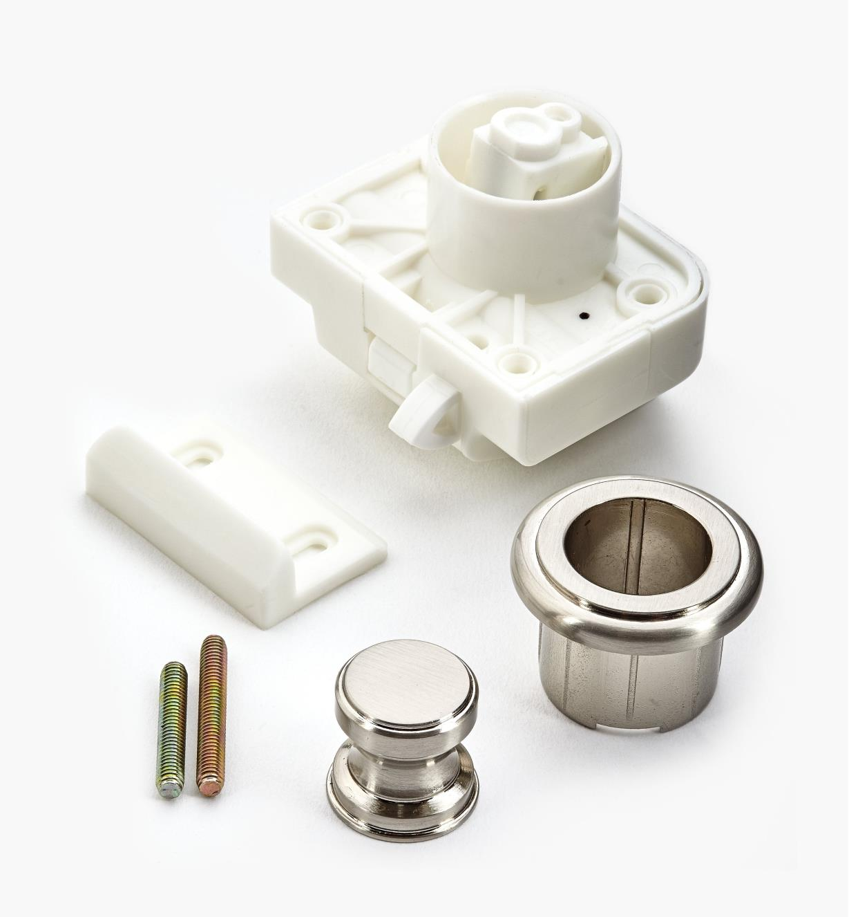00S3212 - Satin Nickel Push Knob/Catch