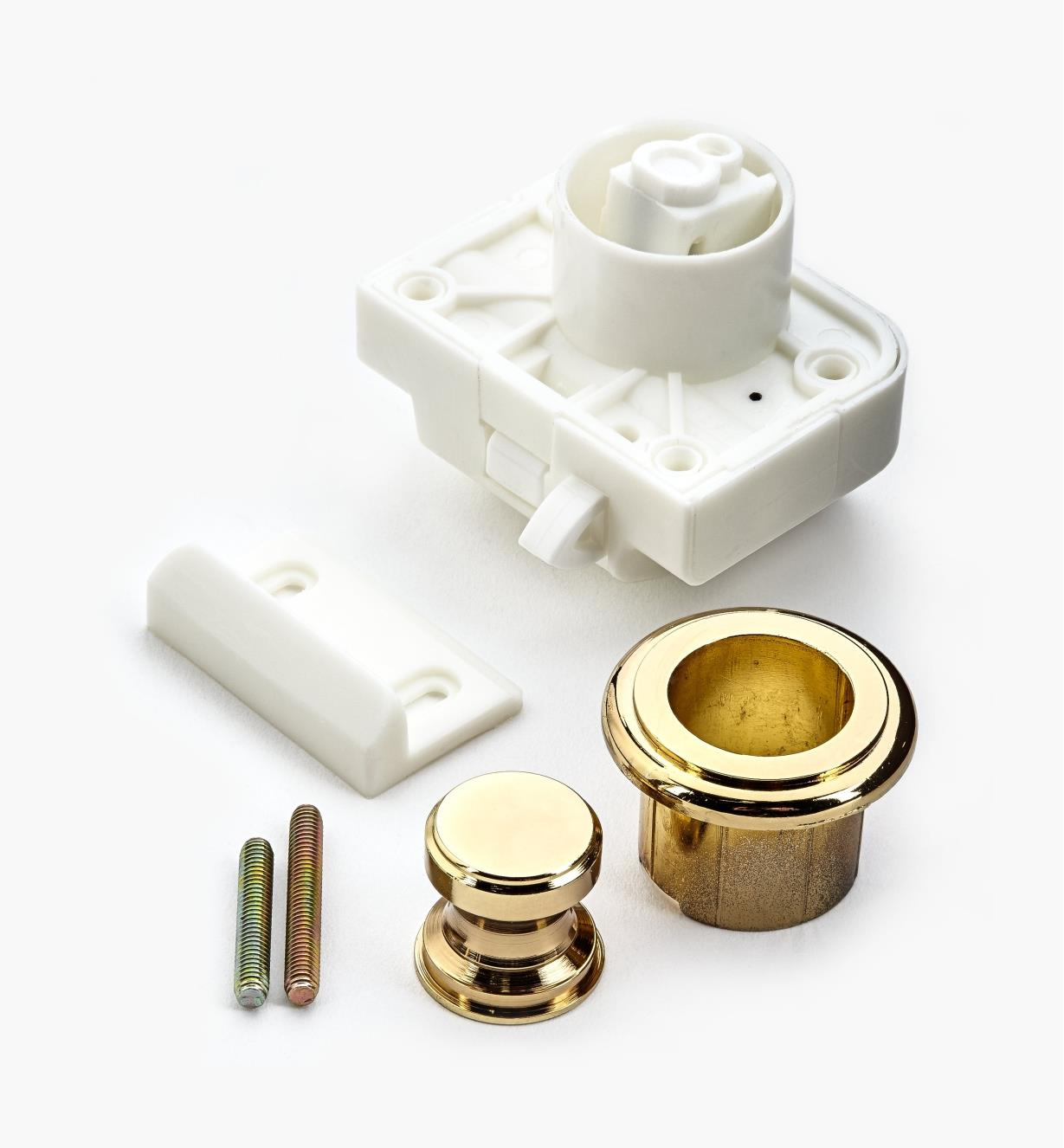 00S3213 - Polished Brass Push Knob/Catch