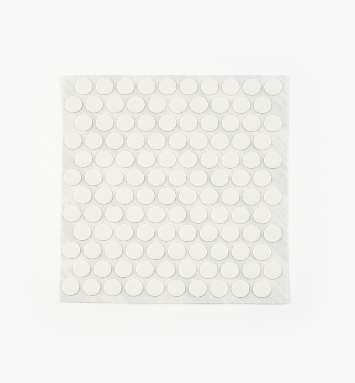 "00S5306 - 3/8"" White PVC Screw Covers,pkg. of 120"