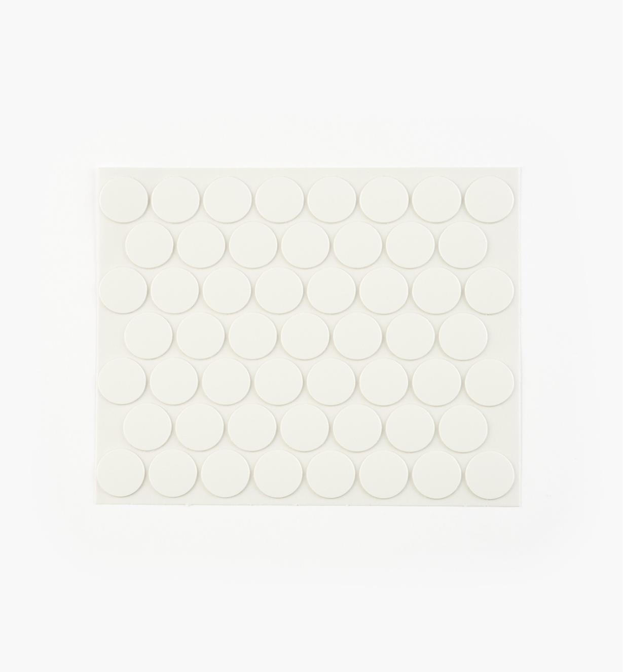 00S5309 - Cache-vis en PVC, blanc, 9/16 po, le paquet de 52