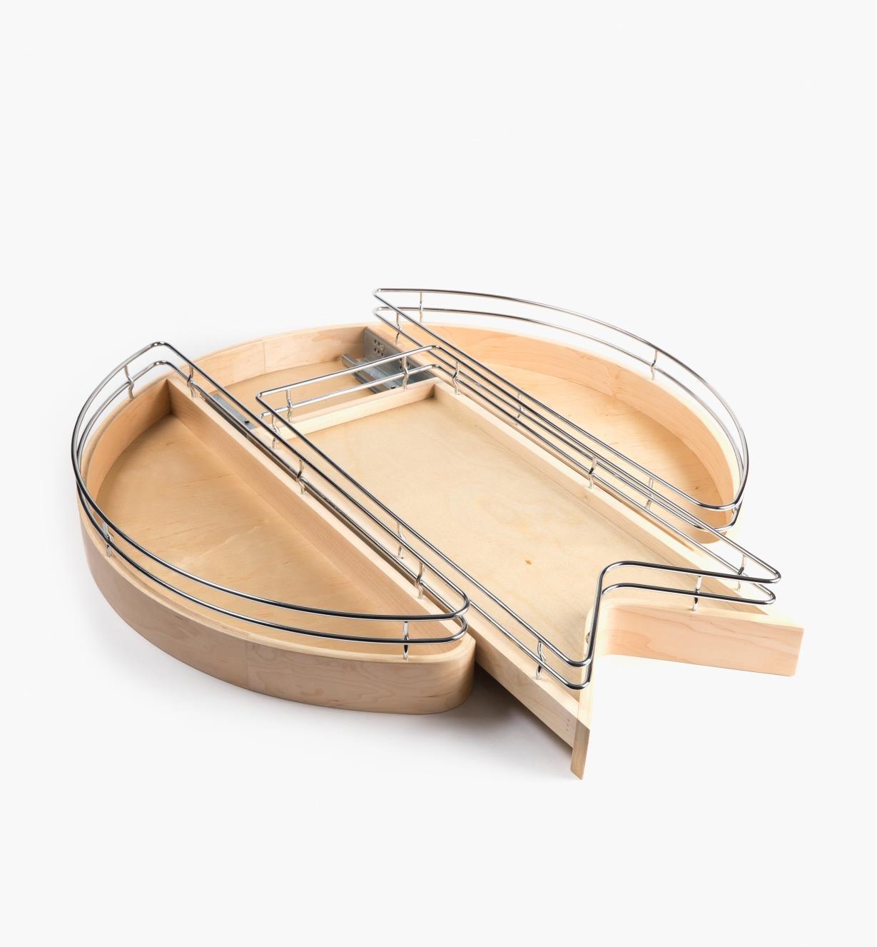 12K7412 - Plateau en bois à tablette coulissante en V